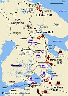 Neuvostoliiton hyökkäykset 1942, kuva wikipedia, http://fi.wikipedia.org/wiki/Jatkosota