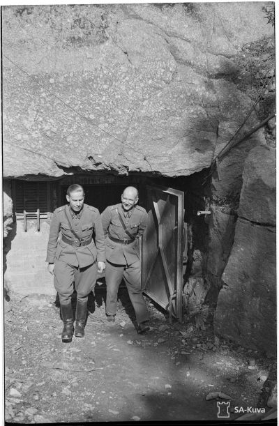 Swedish made Lankila tunnel, 1941 autumn. Kotka's area air observation HQ